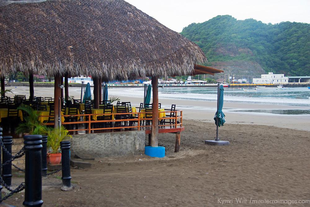 Central America, Nicaragua, San Juan del Sur. Beachfront Restaurant in San Juan del Sur.