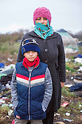 A mother and her son from Syria.