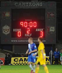Score Board - Mandatory byline: Joe Meredith/JMP - 07966 386802 - 29/09/2015 - FOOTBALL - Victoria Park - Hartlepool, England - Hartlepool United v Bristol Rovers - Sky Bet League Two