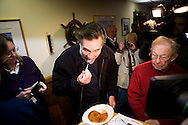 Mitt Romney campaigns at the Golden Egg Diner in Portsmouth, N.H., on Friday, Jan. 4, 2008.