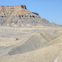 Factory Butte near town of Hanksville, Colorado Plateau, Utah,USA