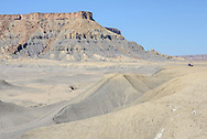 Factory Butte near town of Hanksville, Colorado Plateau, Utah,USA