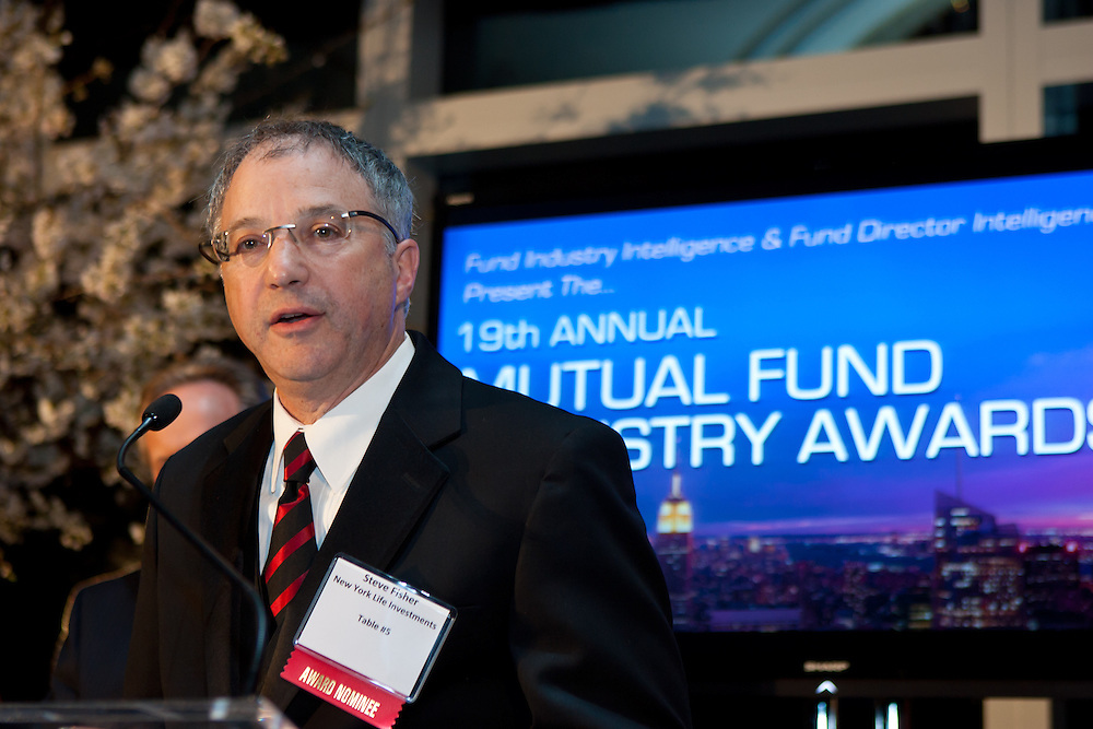 """The mutual fund industry's leaders and rising stars are recogized at the 19th Annual Mutual Fund Industry Awards. Institutional Investor's """"Fund Industry Intelligence"""" and """"Fund Director Intelligence"""" presented the awards dinner held at the Mandarin Oriental on April 5, 2012. Photographed by New York event photographer, Jeffrey Holmes Photography."""