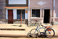Bicycles and pump in Cruces, Cienfuegos, Cuba.