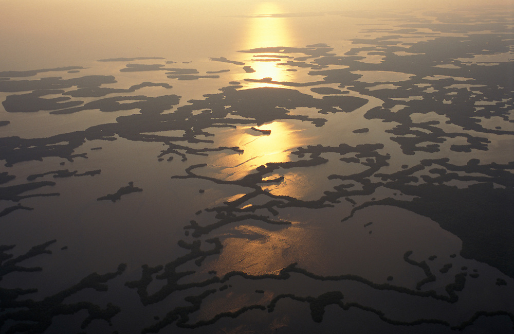 Aerial view of 10'000 Islands south of Marco Island, Florida, USA