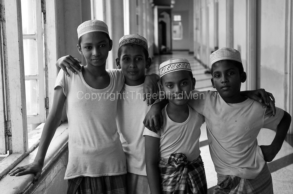 Young boys at a Mosque in new Moor Street, Colombo.