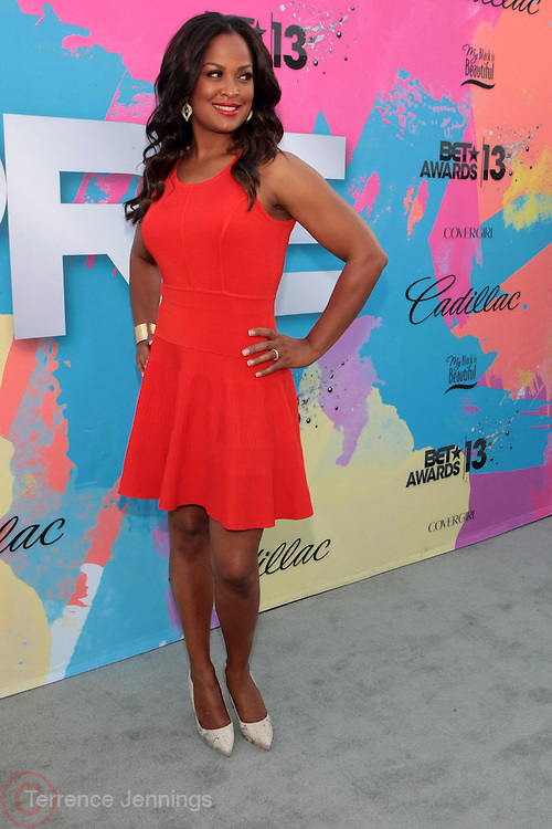 "Los Angeles, CA-June 29: Former Professional Boxer Laila Ali attends the Seventh Annual "" Pre "" Dinner celebrating BET Awards hosted by BET Network/CEO Debra L. Lee held at Miulk Studios on June 29, 2013 in Los Angeles, CA. © Terrence Jennings"
