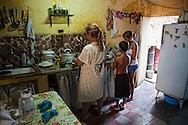 Home cooking in Santiago de Cuba, Cuba.