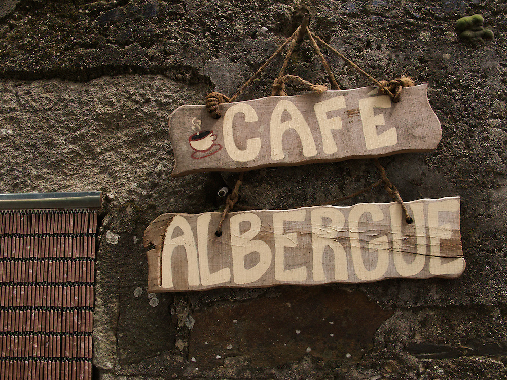 A small albergue and cafe had an interesting sign in the village of Lestedo.
