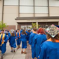 Spring Commencement, Graduation, Albertsons Stadium, John Kelly photo.