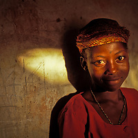 Young girl in late afternoon in Zinder, Niger.