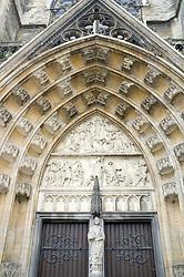 Exterior of Basilica of Our Lady church in Tongeren Limburg in Belgium
