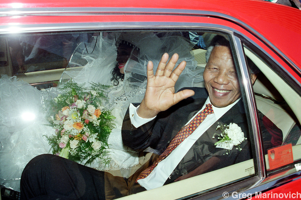 Nelson Mandela after his daughter Zinzi Mandela's wedding 24 October 1992