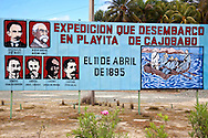 Revolutionary sign in Playita de Cajobabo, Guantanamo, Cuba.