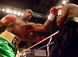 February 22, 2007 - New York, NY - Joe Greene knocks out Patrick Coleman in the first round of their bout at Roseland Ballroom.