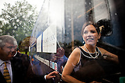 GOP Presidential candidate Rep. Michele Bachmann departs the New Life Community Church in Marion, Iowa, July 24, 2011.