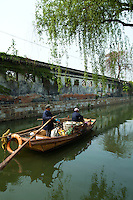 "Within the city of Suzhou, there are areas featuring canals. Suzhou is often dubbed the ""Venice of the East"" or ""Venice of China"" because of its many canals.  Both eight hundred-year-old Pingjiang Road and twelve hundred-year-old Shantang Road made it to the list of China's ""famous history and culture streets"", and both feature elegant bridges, flowing waters and unique architecture."