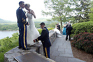 2nd. Lt. John Griffin IV and his bride Hayley Gabelein after their wedding ceremony at the United States Military Academy at West Point, NY on Sunday, June 1, 2008. 2nd. Lt. Griffin is a prior service Army enlisted man, having served in Afghanistan as a Army Ranger. The newlyweds from Seattle, WA had to wait 5 years to get married, as the USMA doesn't admit married cadets.  © CHET GORDON/Times Herald-Record