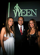Valiesha Butterfield. Dr. Benjamin Chavis Muhummad, and Rosci at The Women in Entertainment Empowerment Network (WEEN) Signature, Fundraising series VIPink with An Exclusive Performance by Grammy Winning Super Producer/Songwriter Bryan-Michael Cox at the Boucarou Lounge on April 30. 2008.