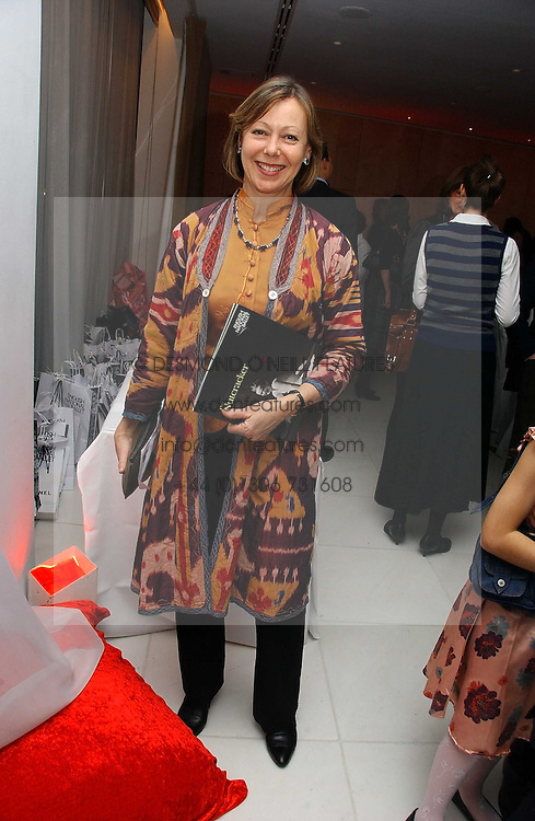 JENNY AGUTTER at the English National Ballet's Mad Hatters Tea Party at St.Martins Lane Hotel, St Martins Lane, London on 12th December 2006.<br />