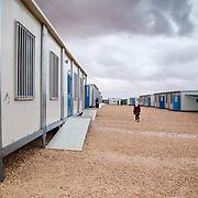 Hayam's school in Zaatari camp for Syrian refugees. Jordan, March 2014.