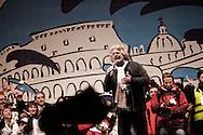 ROMA. BEPPE GRILLO SUL PALCO IN PIAZZA SAN GIOVANNI A ROMA PER LA CHIUSURA DELLA CAMPAGNA ELETTORALE DEL MOVIMENTO 5 STELLE;