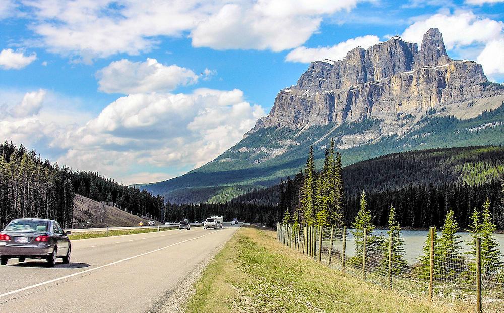 Castle Mountain, along Trans Canada Highway. Alberta, Canada.
