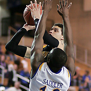 (#1) Isaiah Philmore shoot the ball during Towson Delaware game. Delaware defeated Towson 80-70 at The Bob Carpenter Center Wednesday night In Newark Delaware.