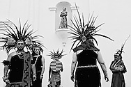 Traditional Mexican Folklore dancers perform a Day of the Dead dance, on Sunday, October 27, 2013 at the Mision San Luis Rey Dia de los Muertos Celebration in Oceanside, CA(Photo by Sandy Huffaker for The Wall Street Journal)<br /> MUERTOS<br /> 27948