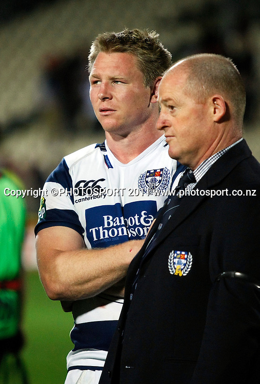 Auckland captain Tom McCartney and assistant coach Paul Feeny. Auckland v Canterbury. ITM CUP Rugby Final, AMI Stadium, Christchruch. Saturday 27 October 2012. Joseph Johnson/photosport.co.nz