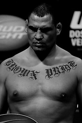 Las Vegas, NV - December 28, 2012: Cain Velasquez weighs in for his bout against UFC Heavyweight Champion Junior Dos Santos at UFC 155 at MGM Grand Garden Arena in Las Vegas, Nevada.