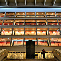 Library Stacks at Lyndon Johnson Presidential Library in Austin, Texas<br /> If you are a presidential archives researcher, it must be overwhelming to stare at the four floors of the Lyndon Johnson Presidential Library. The resource contains about 45 million pages. Inside is a treasure-trove of historical information. You will also find personal insights into the 36th President. Examples include a list of his favorites: dessert (coconut macaroon cookies), food (very spicy deer sausages), beverages (Scotch and Fresca), movie (Butch Cassidy and the Sundance Kid) and after shave (Old Spice).