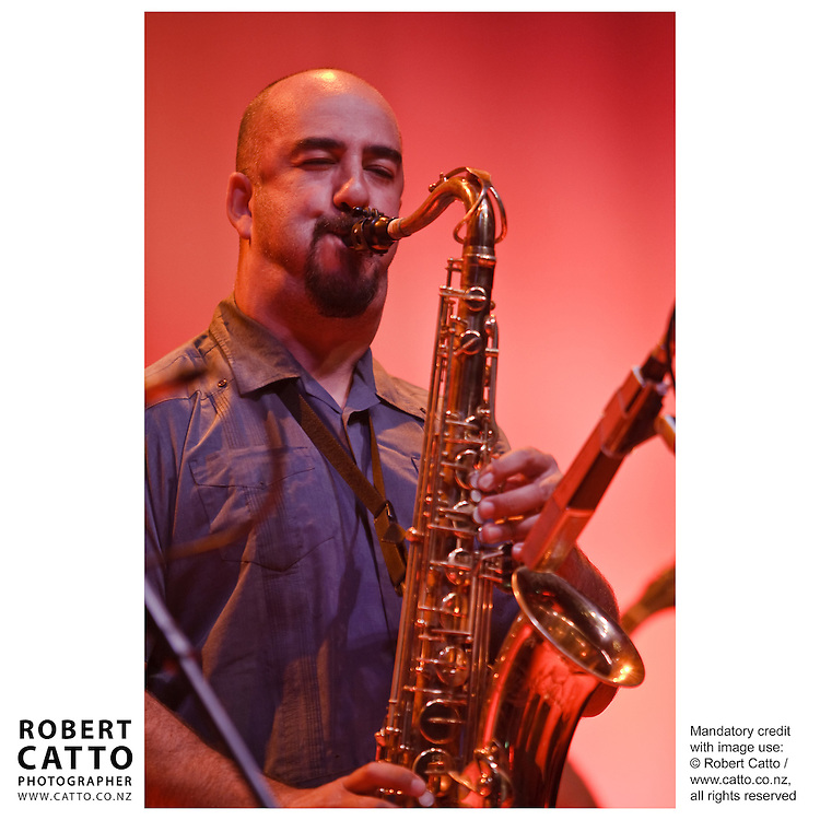 The Wellington Jazz Festival takes place in the Pacific Blue Note Jazz Club, a purpose built venue within Wellington's Town Hall.  The opening night featured performances by Otis Taylor, LA Mitchell, Mike Nock and Cristian Cuturrufo's band from Chile.