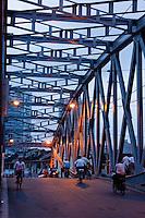 bridge over the huanpu river in Shanghai China