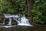 A waterfall on the Millstone River at Bowen Park in Nanaimo, British Columbia, Canada.