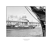 Views of Custom House, Dublin.04/07/1953..The Custom House was built between 1781 and 1791 by James Gandon. It was seized by the Dublin Brigade of the IRA in May of 1921 and they set the Custom House on fire.  In 1926, it was decided that the Custom House would be rebuilt on its existing location with little change to the exterior. ..http://anchorhousedublin.com/dublin_guide/the-customs-house-dublin-1/