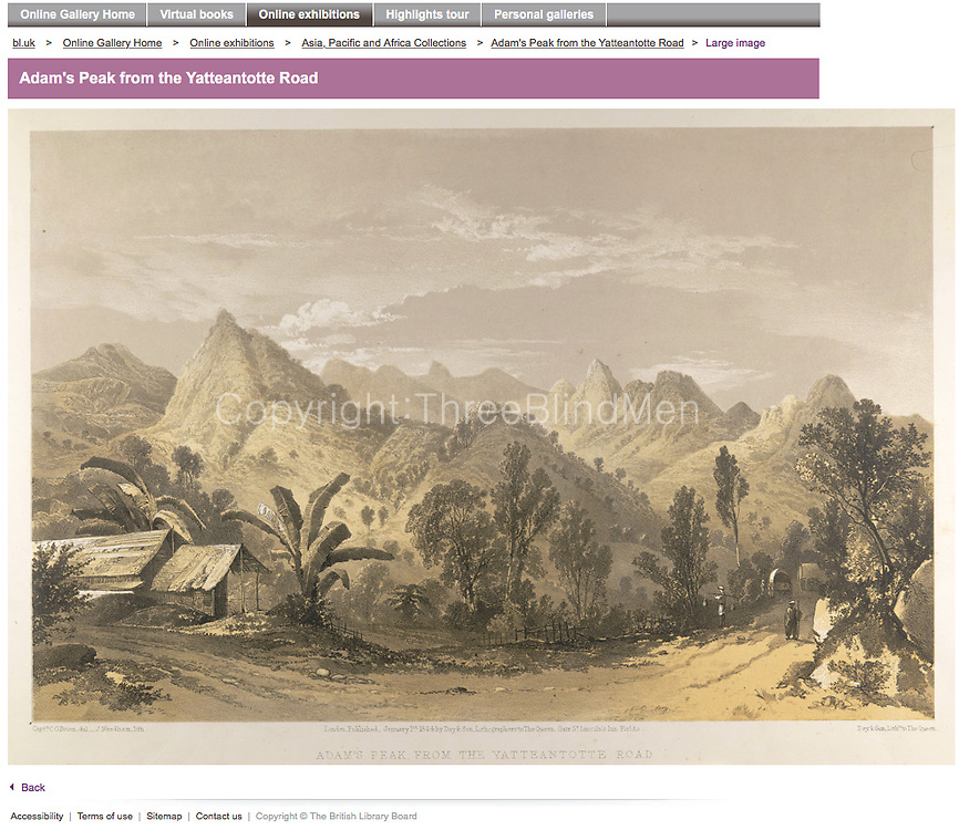 Adams Peak, British Library, tea, archival,