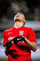 DEN HAAG - ADO Den Haag - FC Twente , Voetbal , Seizoen 2015/2016 , Eredivisie , Kyocera Stadion , 04-03-2016 , FC Twente speler Zakaria El Azouzi baalt van gemiste kans
