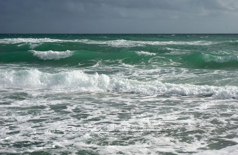 Big ocean waves of Atlantic Ocean.