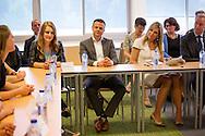8-6-2016 EINDHOVEN - Queen Maxima pays a working visit to Own Boss program at Summa College in Eindhoven Queen Maxima has Wednesday, June 8th, 2016 paid a working visit to the Jan van Brabant College and the Summa College in Eindhoven. The visit took place at the Summa College, and was marked by the Qredits Own Boss program. This educational program aimed at secondary and secondary education prepares students for the ondernemerschap.copyright Robin Utrecht 8-6-2016 EINDHOVEN - Koningin Maxima brengt werkbezoek aan EigenBaas-programma op Summa College in Eindhoven Koningin Maxima heeft woensdag 8 juni 2016 een werkbezoek gebracht aan het Jan van Brabant College en het Summa College in Eindhoven. Het bezoek vond plaats op het Summa College, en stond in het teken van het Eigenbaas-programma van Qredits. Dit onderwijsprogramma, gericht op middelbaar en voortgezet onderwijs, bereidt studenten voor op het ondernemerschap.Koningin Maxima brengt, als lid van het Nederlands Comite voor Ondernemerschap en Financiering, een bezoek aan het Summa College. Hier worden studenten uit het middelbaar en voortgezet onderwijs met het onderwijsprogramma EigenBaas van Qredits voorbereidt op het ondernemerschap.  copyright robin utrecht