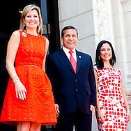 8-3-2014    LIMA - PERU T&ecirc;te-&agrave;-t&ecirc;te met de president van Peru, Z.E. Ollanta Humala en de First Lady van Peru, mevrouw Nadine Heredia. <br />  COPYRIGHT ROBIN UTRECHT