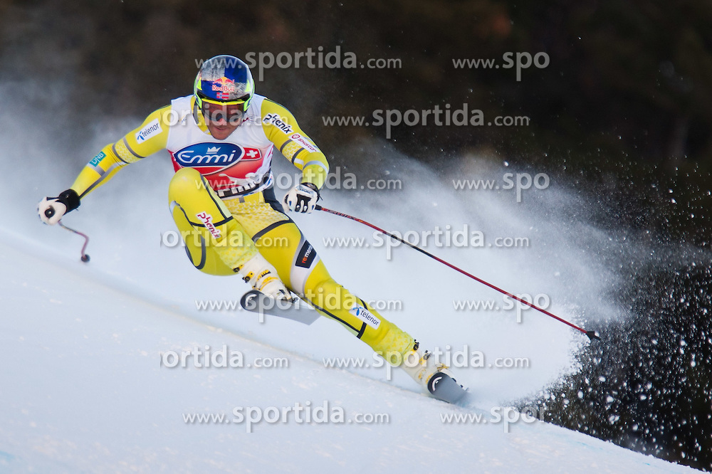 28.12.2011, Pista Stelvio, Bormio, AUT, FIS Weltcup Ski Alpin, Herren, Abfahrt, 2. Training, im Bild Aksel Lund Svindal (NOR) // Aksel Lund Svindal of Norway in Action during second practice session downhill of FIS Ski Alpine World Cup at 'Pista Stelvio' in Bormio, Italy on 2011/12/28. EXPA Pictures © 2011, PhotoCredit: EXPA/ Johann Groder