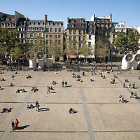 View from the Centre Georges Pompidou. The Pompidou Centre is a complex in the Beaubourg area of the 4th arrondissement of Paris, near Les Halles and the Marais. Saturday, Sept. 27, 2008. (ivan gonzalez)