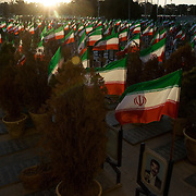 The cemetery of martyrs in Isfahan..In the culture and propaganda of the Islamic Republic the martyrdom in that war is inspired by the Imam Hussein's one in the 7th century  in the battle of Kerbala (Iraq) celebrated in the Ashura.