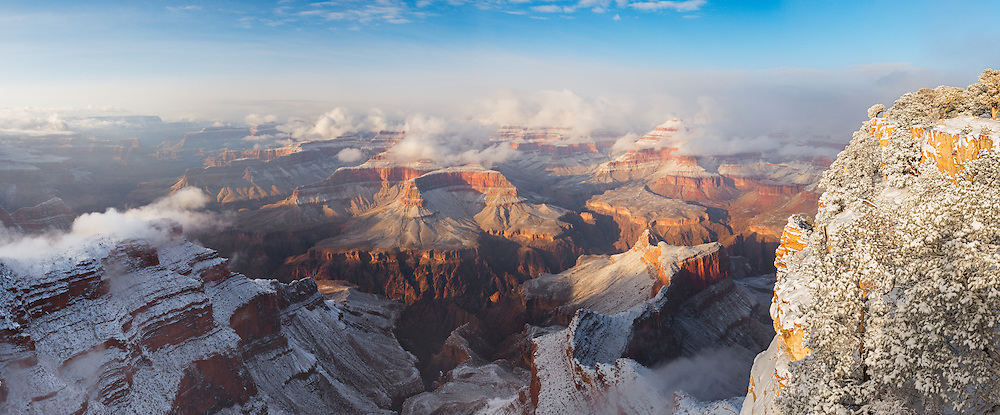Winter at the Grand Canyon can be a magical time, especially after it has snowed.