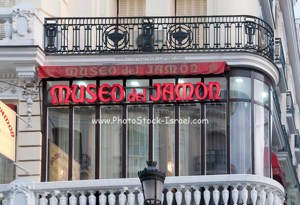 Museo del Jamon (Lit. Ham Museum) Butchery, Madrid, Spain