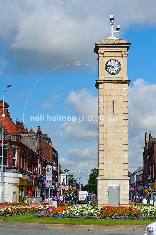 Goole's clock tower at in the centre of the town