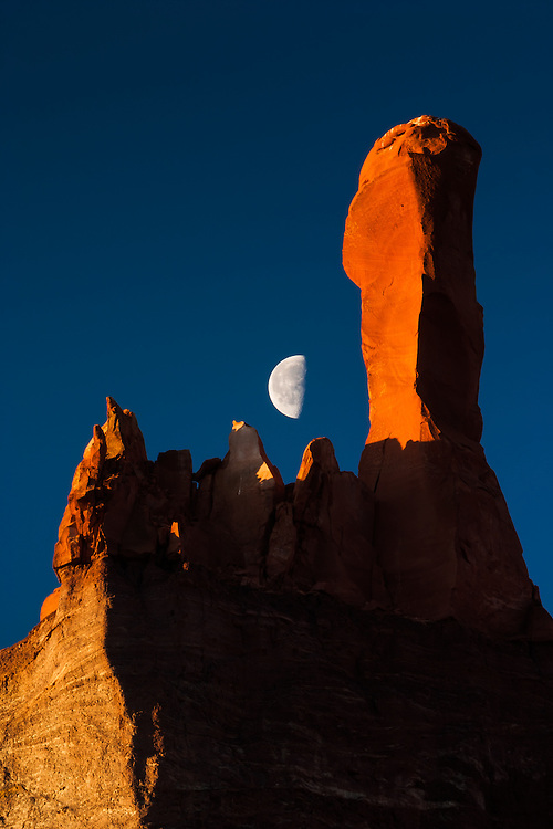 Moon over Ghost Ranch. Abiquiu, New Mexico.