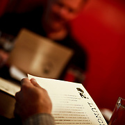 "SHOT 10/8/09 11:28:11 AM - TAG restaurant on Larimer Square in downtown Denver, Co. The restaurant operated by chef/owner Troy Guard features what they term ""continental social food"" and features influences from numerous continents. A pair of diners look over the lunch menu in the main dining room at TAG one afternoon. (Photo by Marc Piscotty / © 2009)"