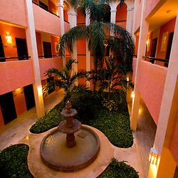 A fancy resort in the Mexican Riviera Maya, near Playa Del Carmen.